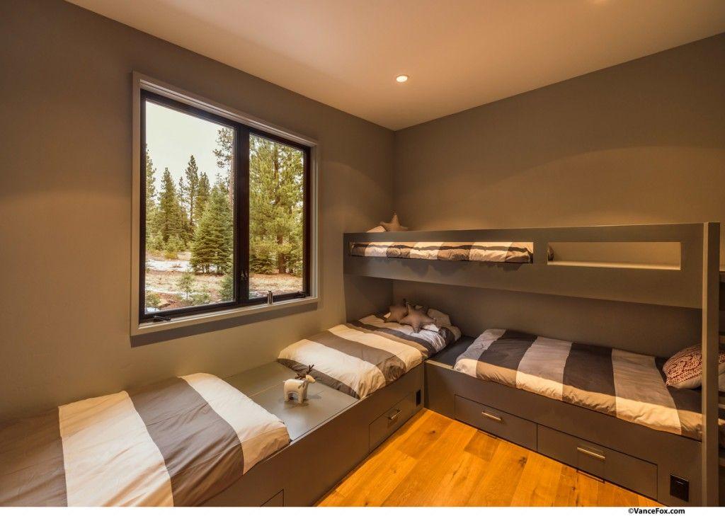 A New Twist On Prefab Home Design Houseplans Blog Houseplans Com In 2020 Corner Bunk Beds Triple Bunk Beds Plans Home