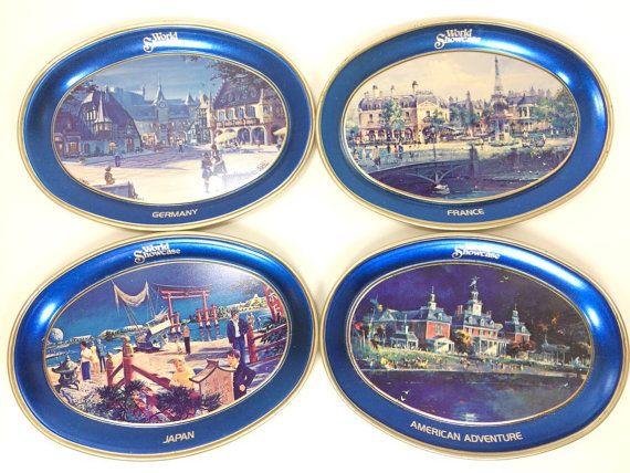 Disney World 1982 Epcot Center WORLD SHOWCASE Japan Metal Tray