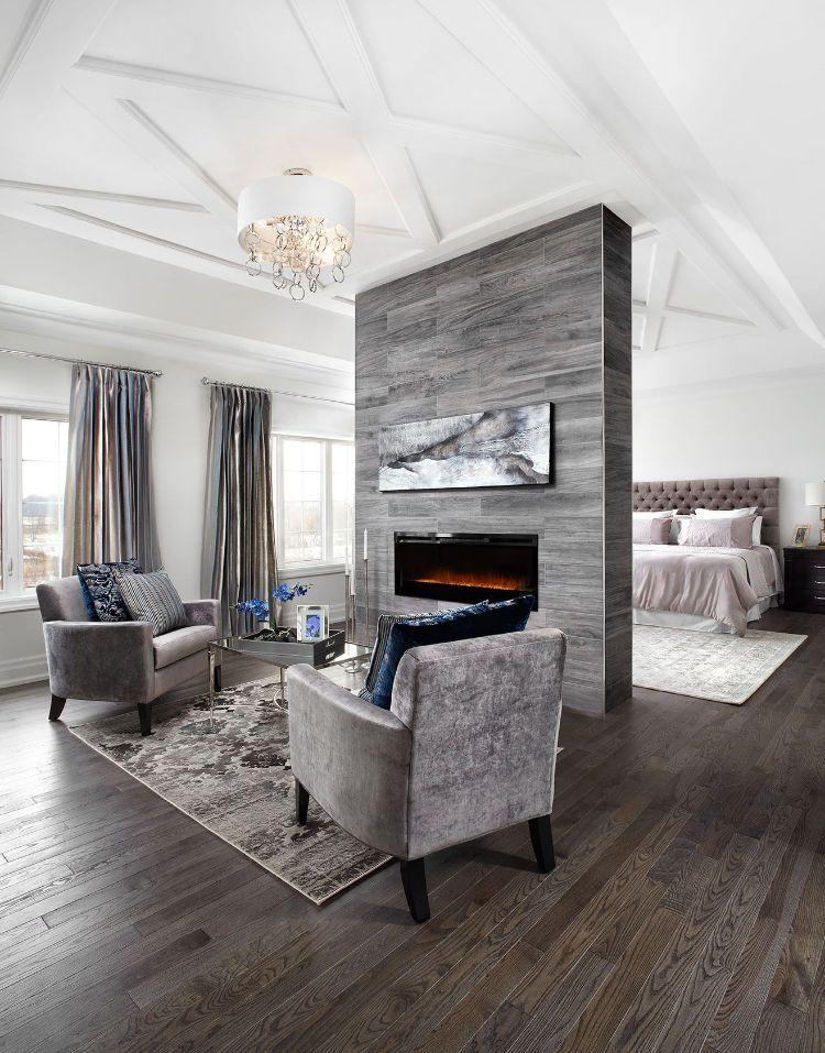 Bevorzugt kamin mitten im raum gestalten wohnzimmer feuerstelle OT62