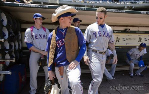 Lasershield Rookies And Josh Robbie Really Gets Into His Cowboy Getup Tanner Got Off Pretty Easy With His Outfit Josh Hamilton Robbie Texas Rangers