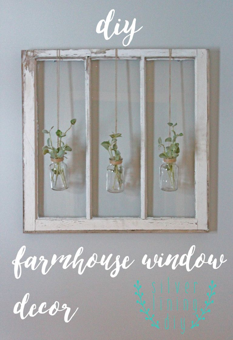 Window pane ideas  diy farmhouse window decor  repurpose reuse recycle  pinterest