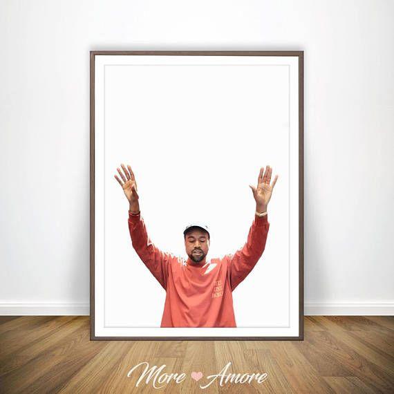feb2e3b77293f Kanye West Print * Kanye West Poster Kanye Poster Kanye West Pablo ...