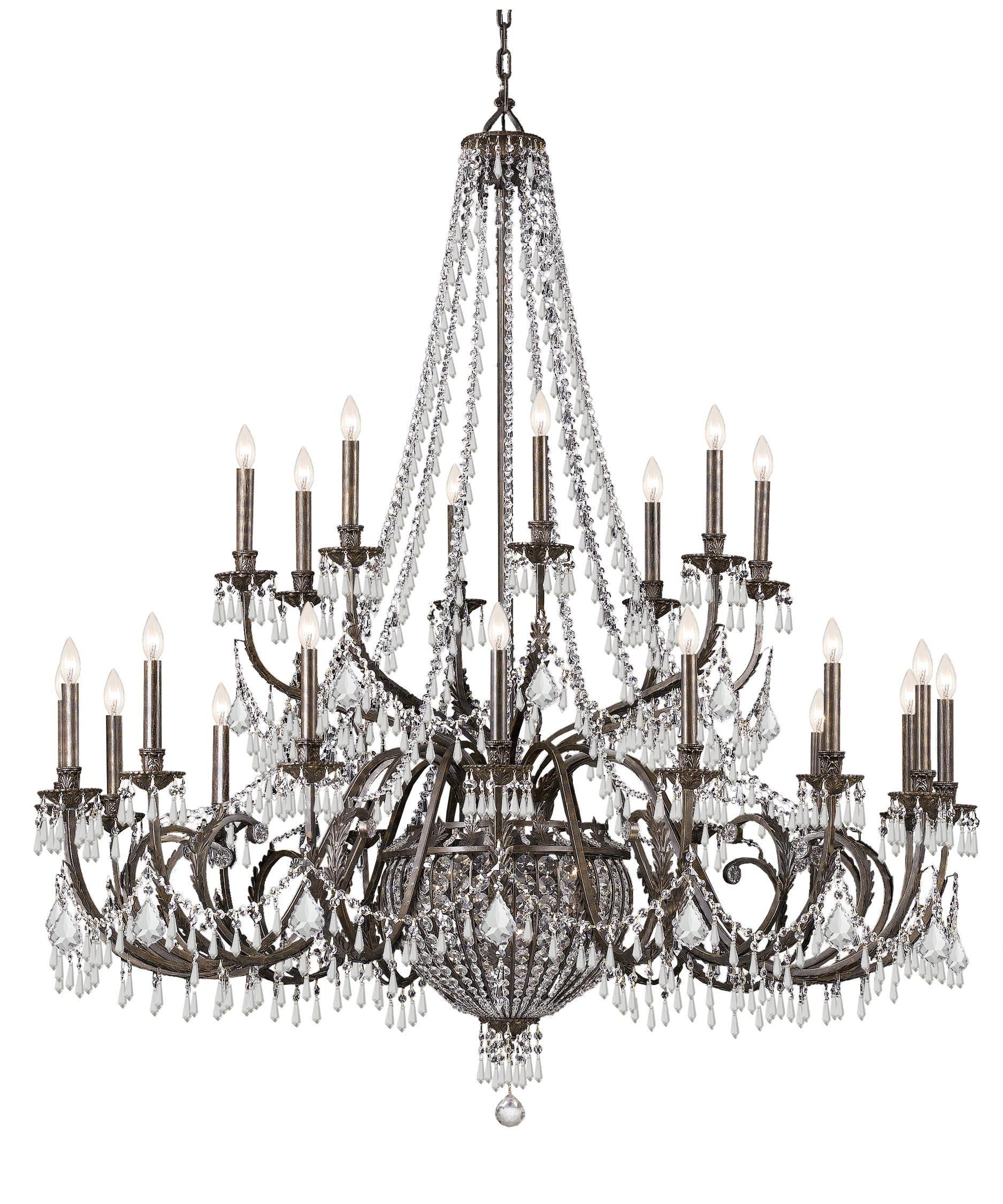 Vanderbilt 60 Inch 29 Light Chandelier Capitol Lighting Crystorama Led Crystal Chandelier Bronze Chandelier