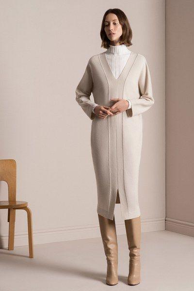 tse pre fall 2017 fashion show sweaterdresses pinterest winter kleider und stricken. Black Bedroom Furniture Sets. Home Design Ideas