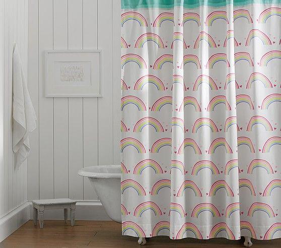 Rainbow Shower Curtain Curtains Bathroom Shower Curtains Shower