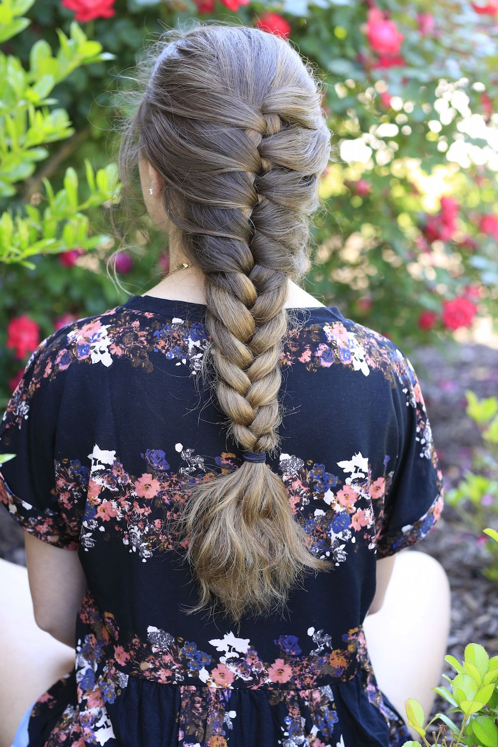 Faux French Braid . . .so easy, daddy could do it | French braid hairstyles, French braid styles ...