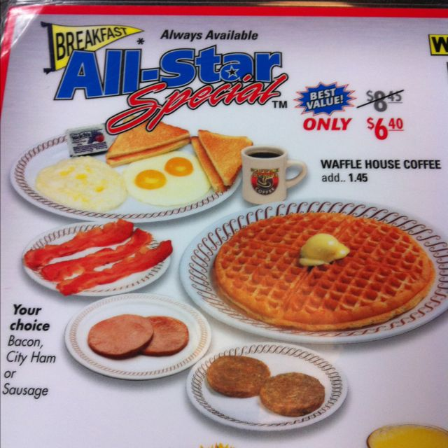 All Star Breakfast Waffle House Waffle House Breakfast Breakfast Waffles