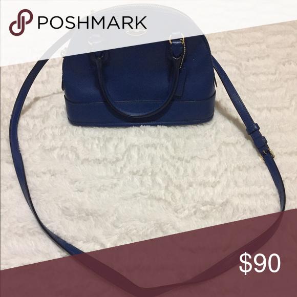 Coach Purse Blue Satchel Handbag Pockets Inside Used Bags Satchels