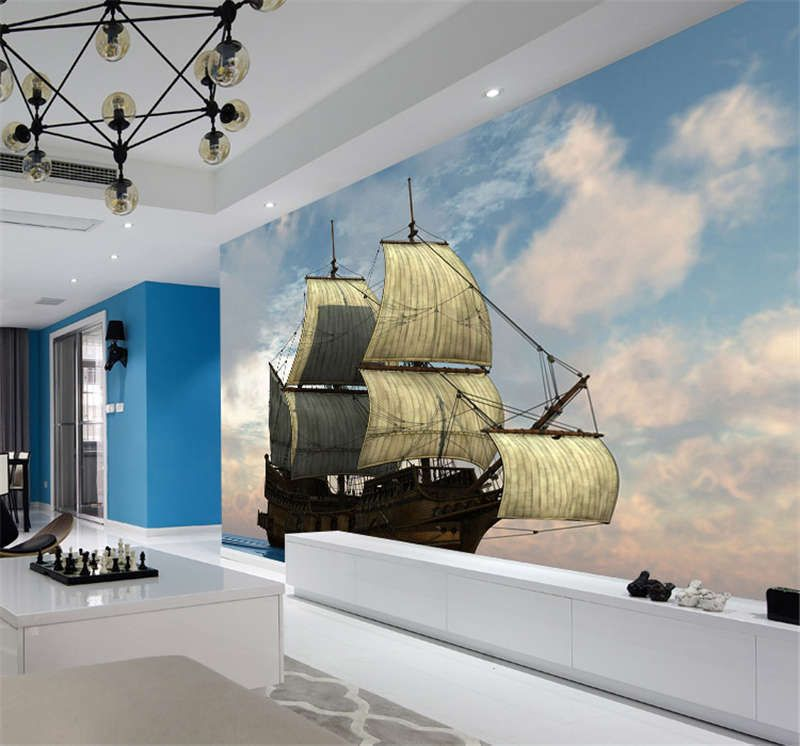 Details About Awesome Sailing Ship Full Wall Mural Photo Wallpaper Print Kids Home 3d Decal Bedroom Wallpaper Prints Master Bedroom Wallpaper Kids House