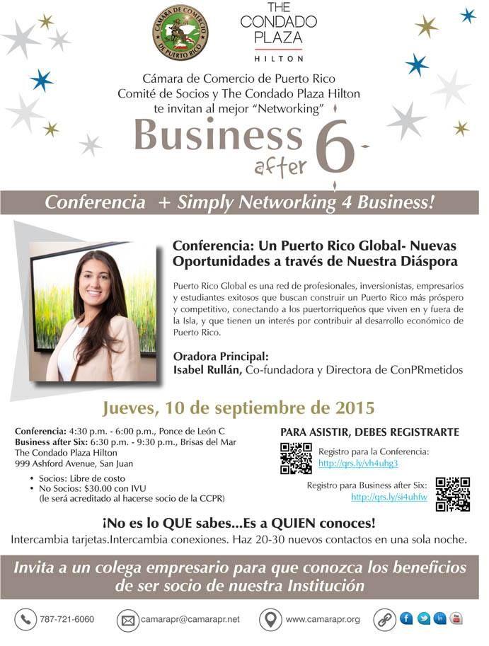 Business After Six & Conferencia #sondeaquipr #businessafter6 #condadoplazahilton #condado #sanjuan