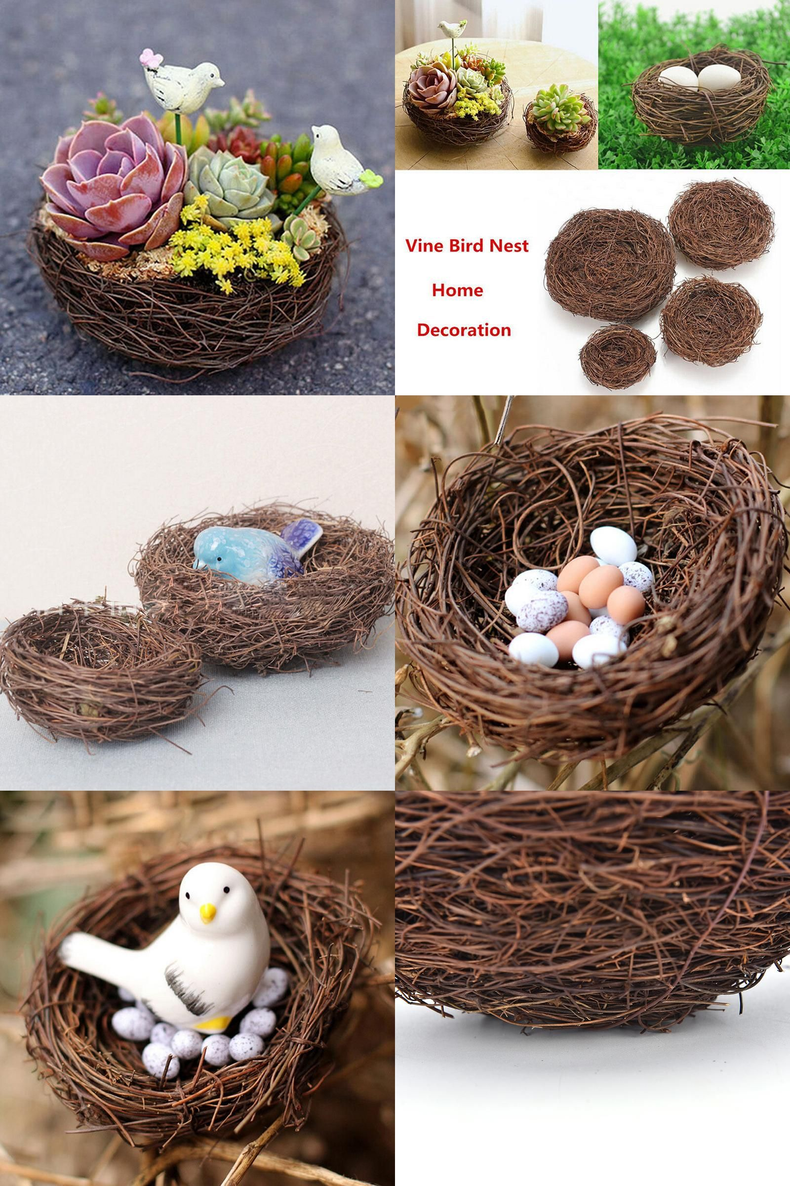 [Visit To Buy] 2017 1Pcs New Handmade Vine Brown Bird Nest House Home Nature