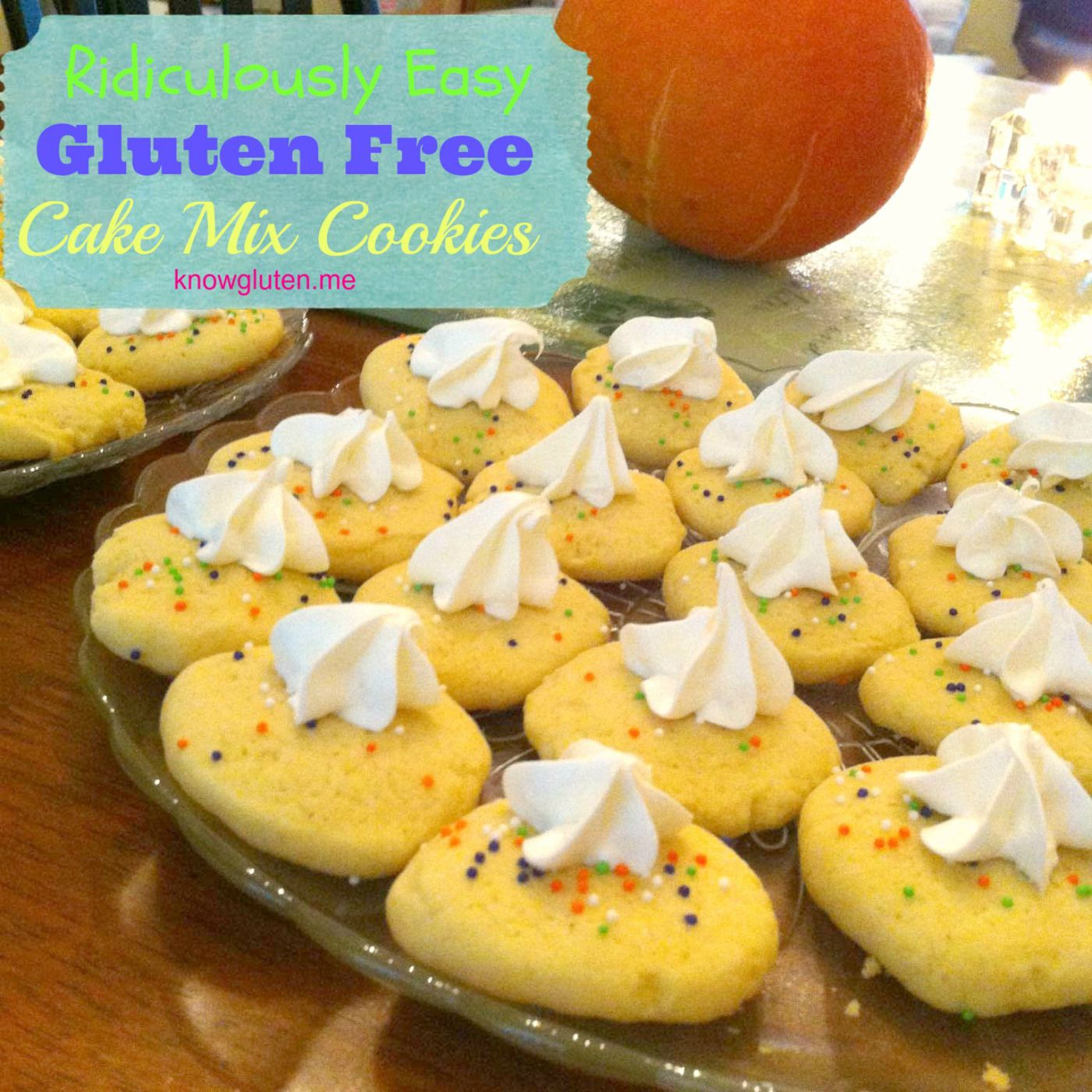 Ridiculously Easy Gluten Free Cake Mix Cookies | know gluten