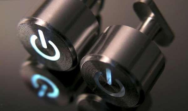 Power Button Cufflinks