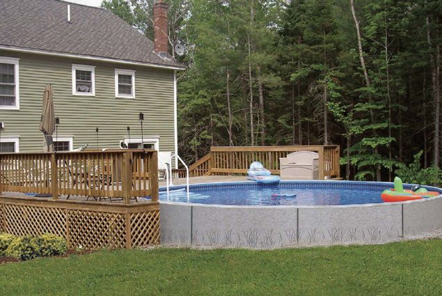 Above ground pool deck ideas above ground pools buds for Pool design hamilton