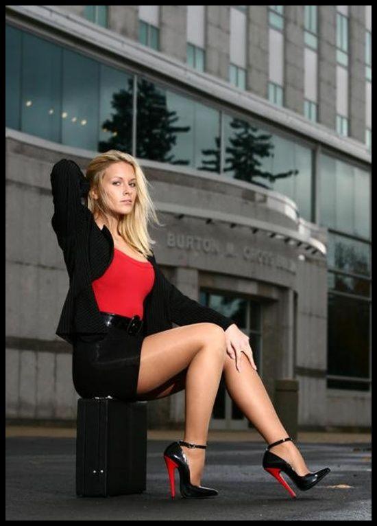 Sexy women wearing high heels