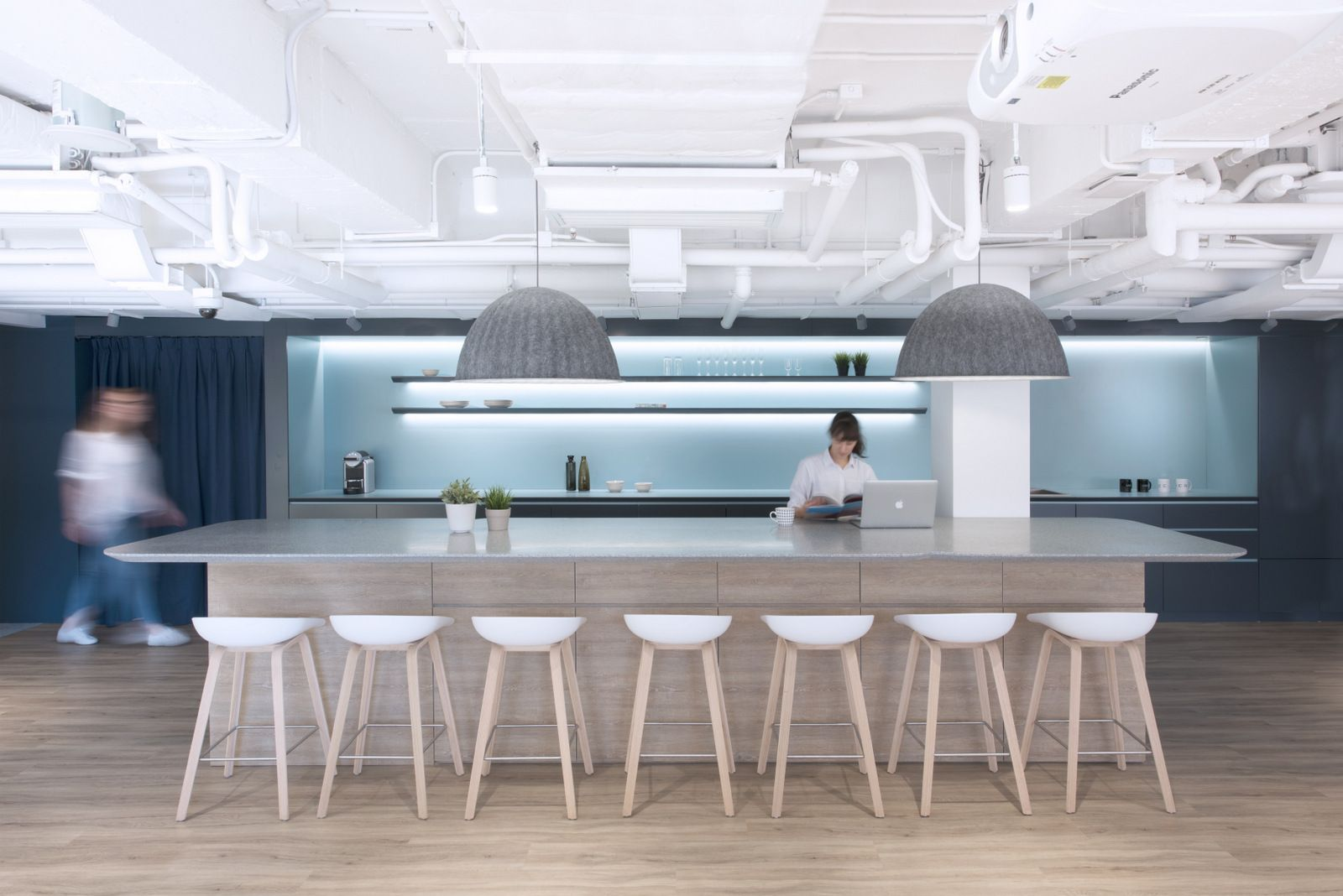 Office Tour: Uber Offices – Hong Kong | Ceiling, Stools and Bench