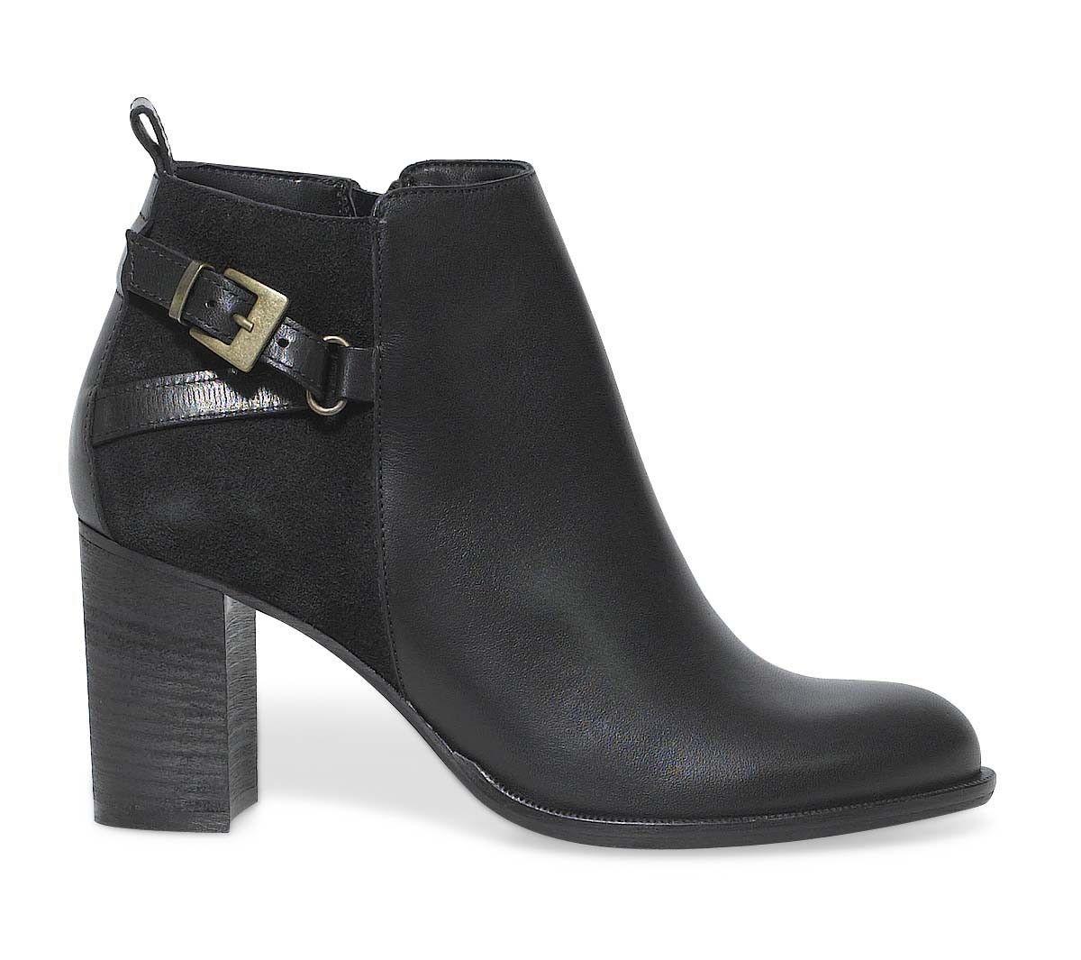 boots talon noir boots bottines chaussures femme. Black Bedroom Furniture Sets. Home Design Ideas