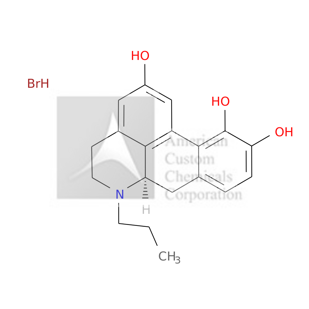 R-(-)-2,10,11-TRIHYDROXY-N-PROPYLNORAPORPHINE HYDROBROMIDE is now  available at ACC Corporation