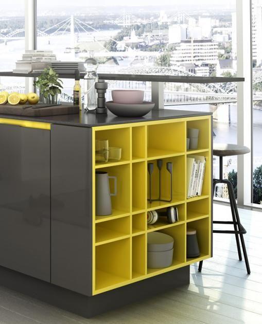Farbe in der Küche: Farbe als Akzent: Küche \
