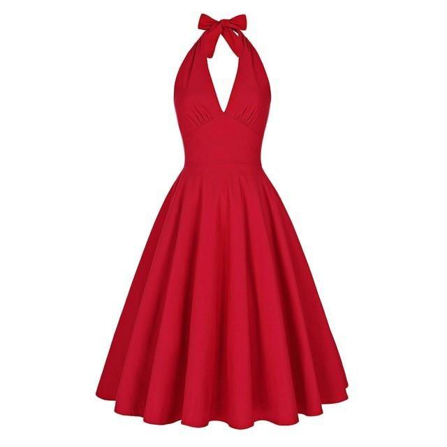 Monroe Inspired Halter Style Dress