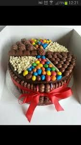 chocolate birthday cakes with maltesers m and ms - Google Search