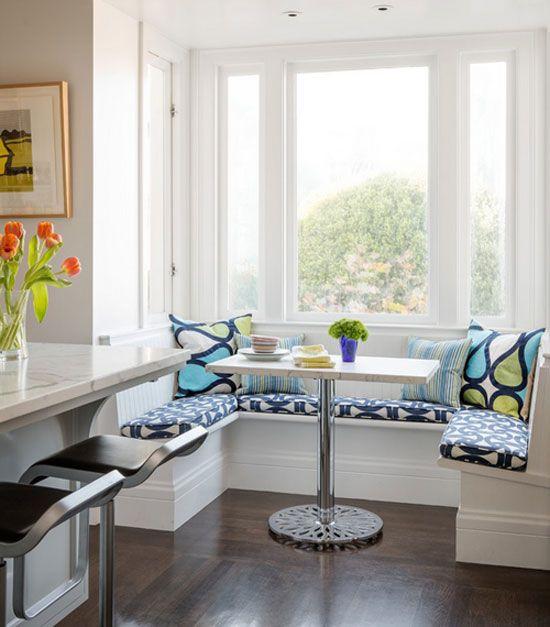Small Nook Table] Small Blue Breakfast Nook Breakfast Nooks Nooks ...
