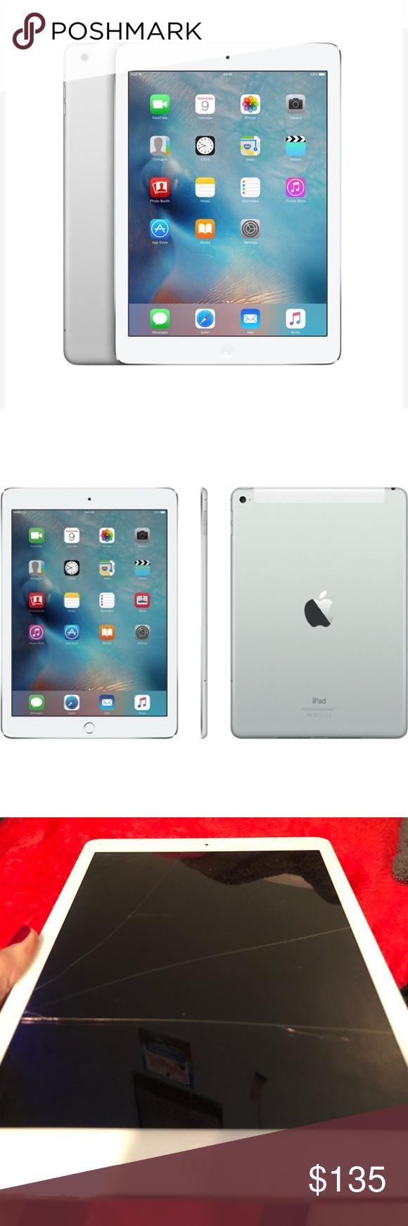 Apple Ipad Air 1 Silver White Apple Ipad Ipad Air Apple Ipad Air
