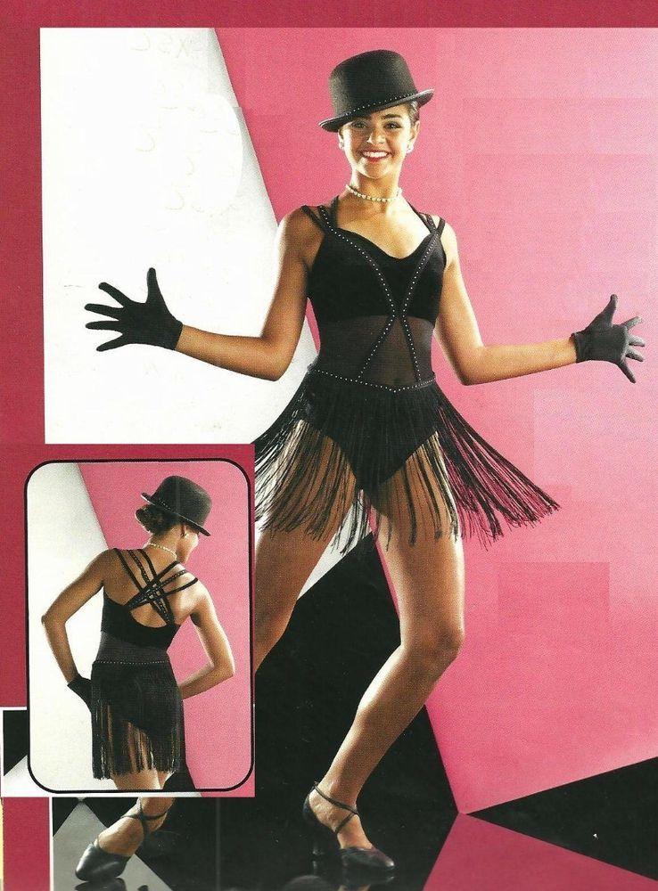 CHICAGO Jazz Tap LEOTARD & GLOVES Dance Costume Child Small & Medium ...