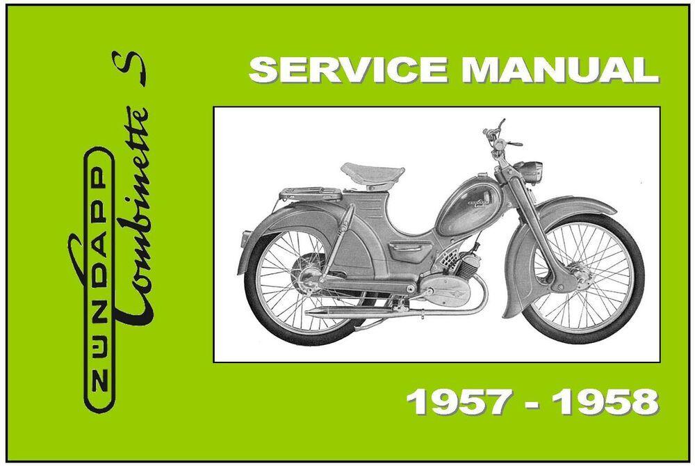 Advertisement Ebay Zundapp Workshop Owners Parts Manual Combinette S 1956 1957 1958 Service Repair Repair Manual Workshop