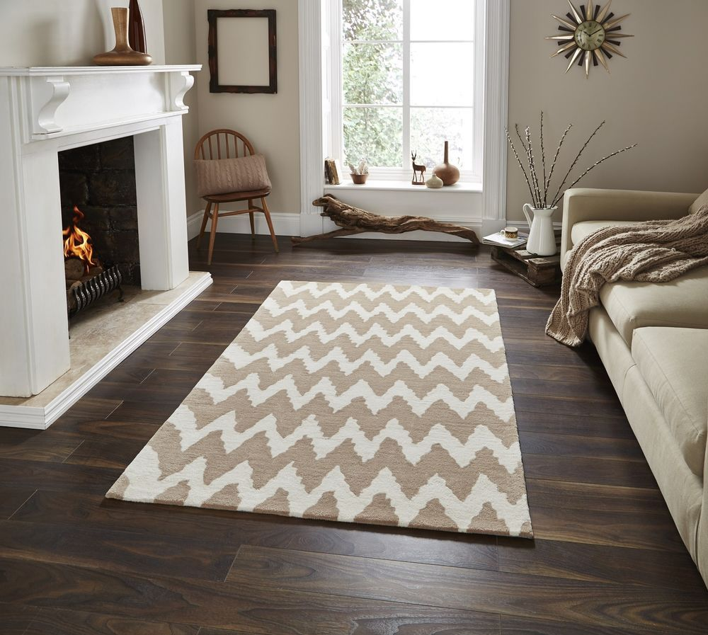 ZIG ZAG Rug Hong Kong 150cm X 230cm Rug Beige/Cream Geometric In Home,