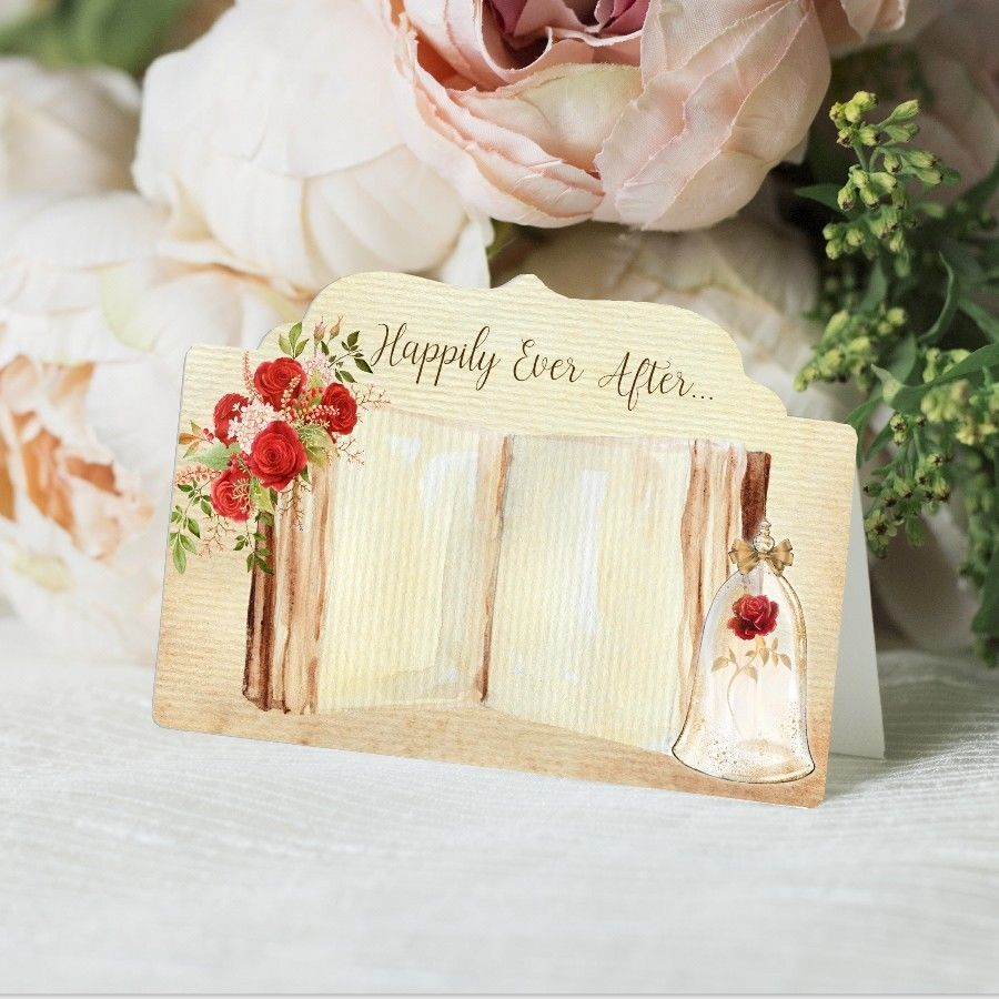 Fairytale Wedding Name Cards, Table Place Cards, Beauty & The Beast ...