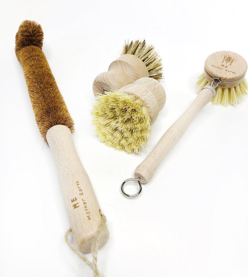 Sustainable Biodegradable Vintage Dish Brush