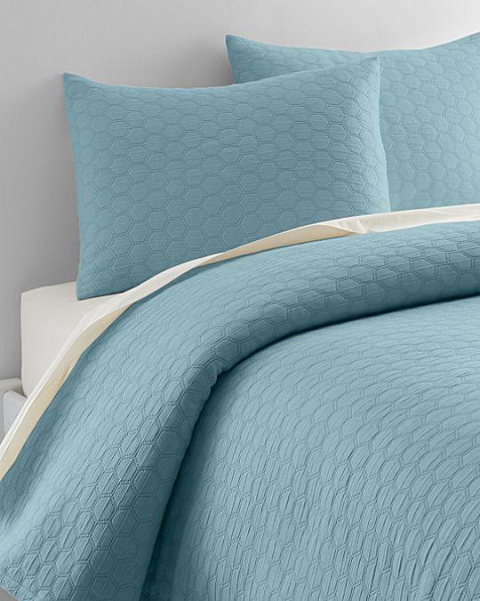 Honeycomb Organic Cotton Coverlet And Sham