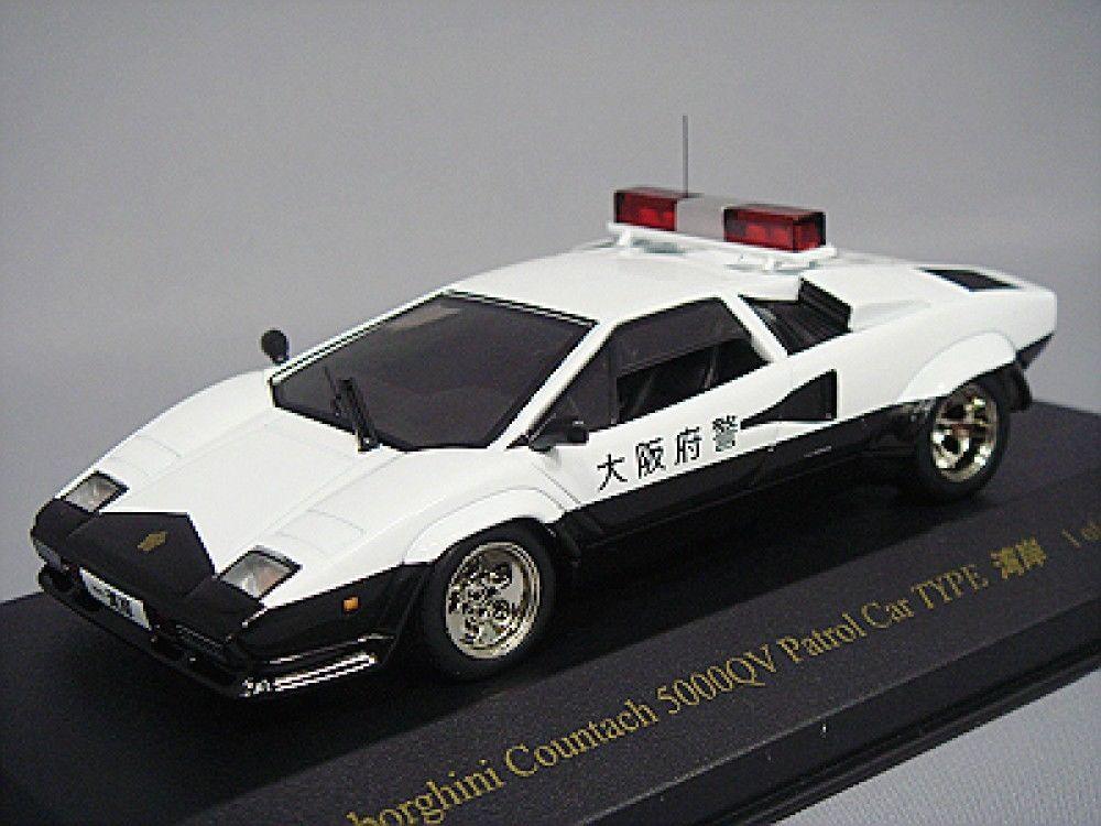 Lamborghini Countach 5000qv Police Car Osaka 1 43 Type Wangan Japan