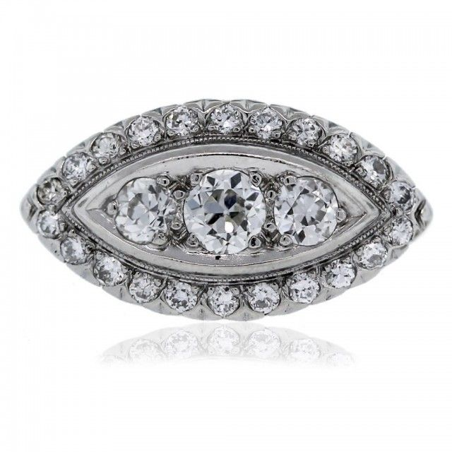 Vintage Engagement Rings Under 3000 Dollars White gold Diamond