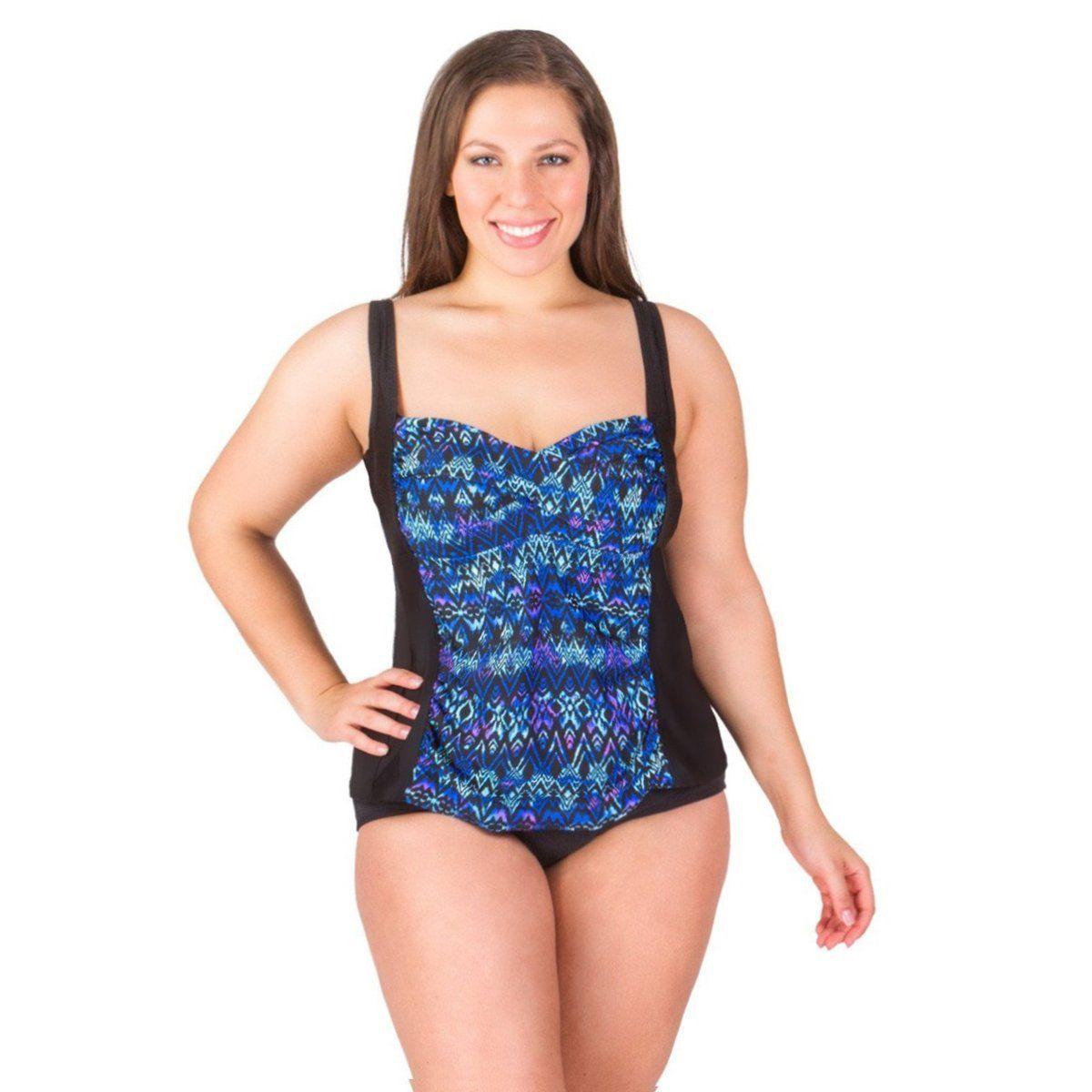 2a258ae5691 Delta Burke Swim Top -Twist Front