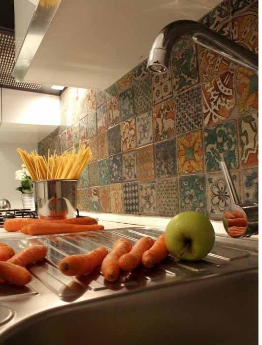 Piastrelle cucina ceramica caltagirone cerca con google - Mattonelle vintage cucina ...