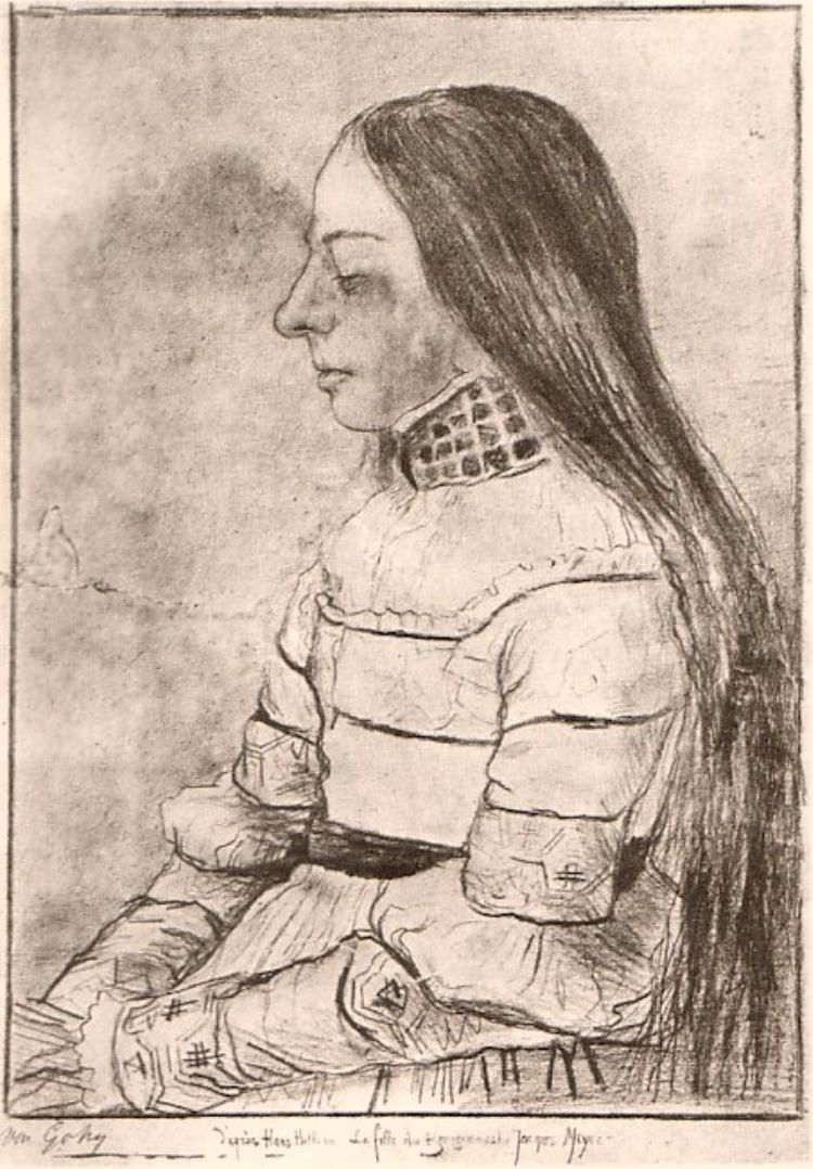 Vincent Van Gogh Daughter Of Jacob Meyer The After Holbein