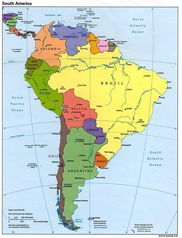mapadeamericamapaamericasur  mapas  Pinterest  Mapa de