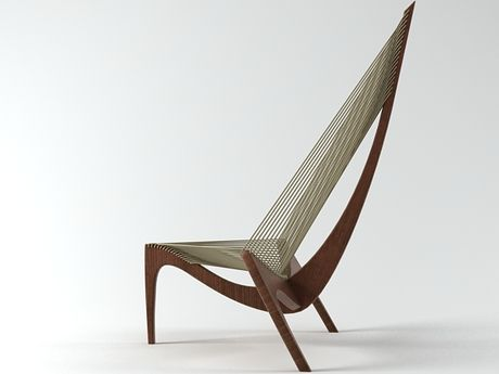 harp chair this beauty is awesome at every angle take a seat rh pinterest com