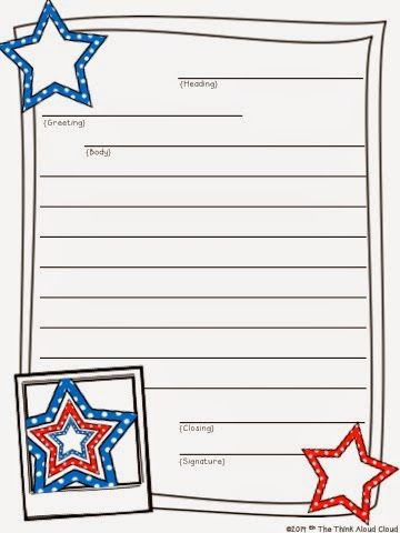 Freebie Friendly Letter Writing Sample From The July Set My Kids