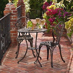 Angelina Aged Bronze Bistro Set From Costco Com