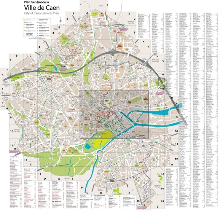 Caen tourist map | Maps | Pinterest | Tourist map and Map
