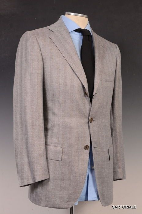 KITON Gray Cashmere Linen Silk Jacket EU 46 NEW US 36