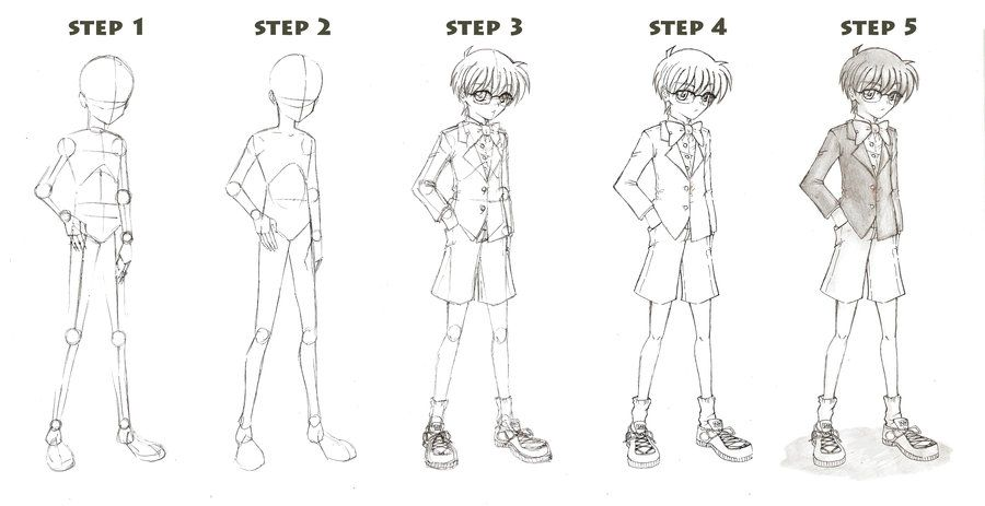 Basic Full Body Boy Tutorial By Red Jello04 Deviantart Com On