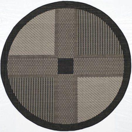 Safavieh Courtyard Eileen Power-Loomed Indoor/Outdoor Area Rug or Runner, Black