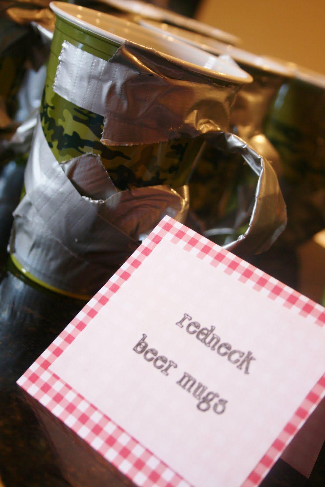 Redneck Beer Mug   White Trash Birthday Bash   Pinterest