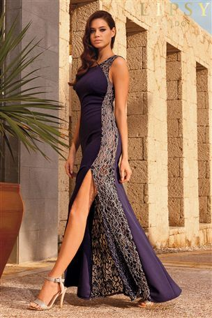 09585d0a48e Buy Lipsy Lace Side Maxi Dress from the Next UK online shop