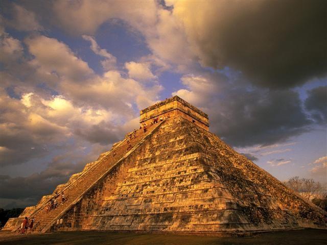 Mayan Riviera, Mexico.  Ancient Mayan Ruins Chichen Itza.