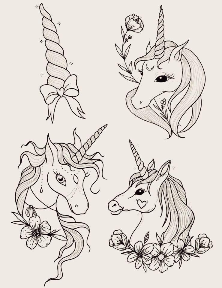 Diseños De Unicornio Para Colorear Diseños Dibujos De